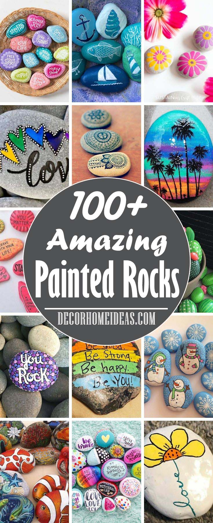 Best Painted Rocks Ideas and Designs. Photos, Tip and Tricks. 7 Easy steps to make a painted rock
