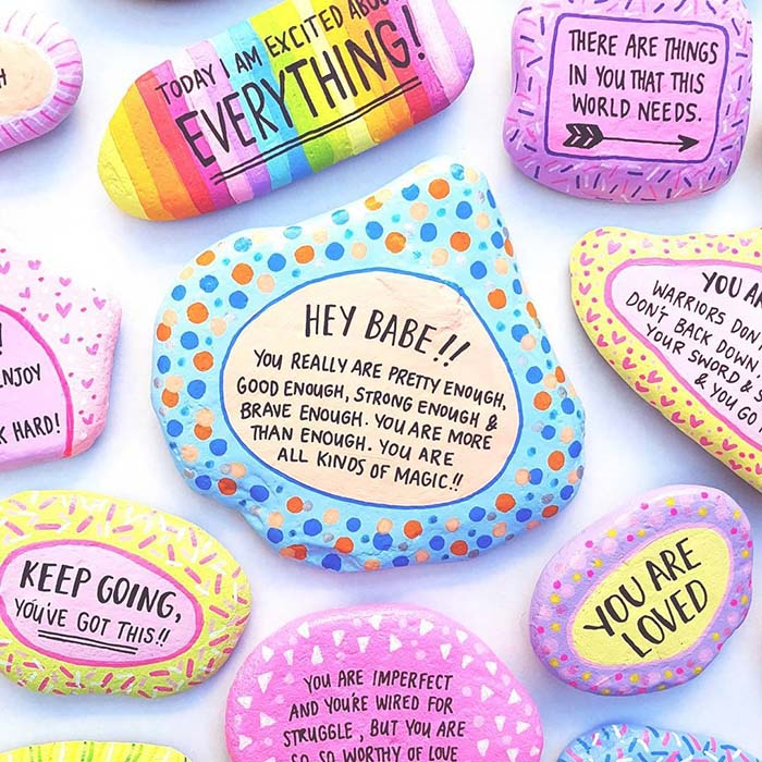 Quotes Painted Rocks