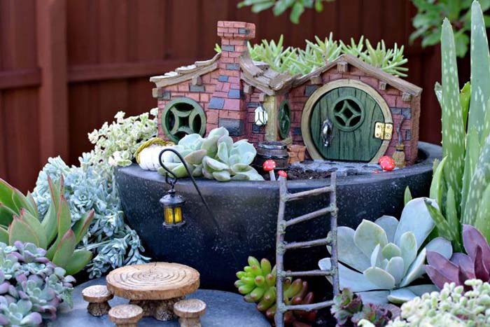 Adorable DIY Fairy Garden Design Idea #fairygarden #diy #decorhomeideas