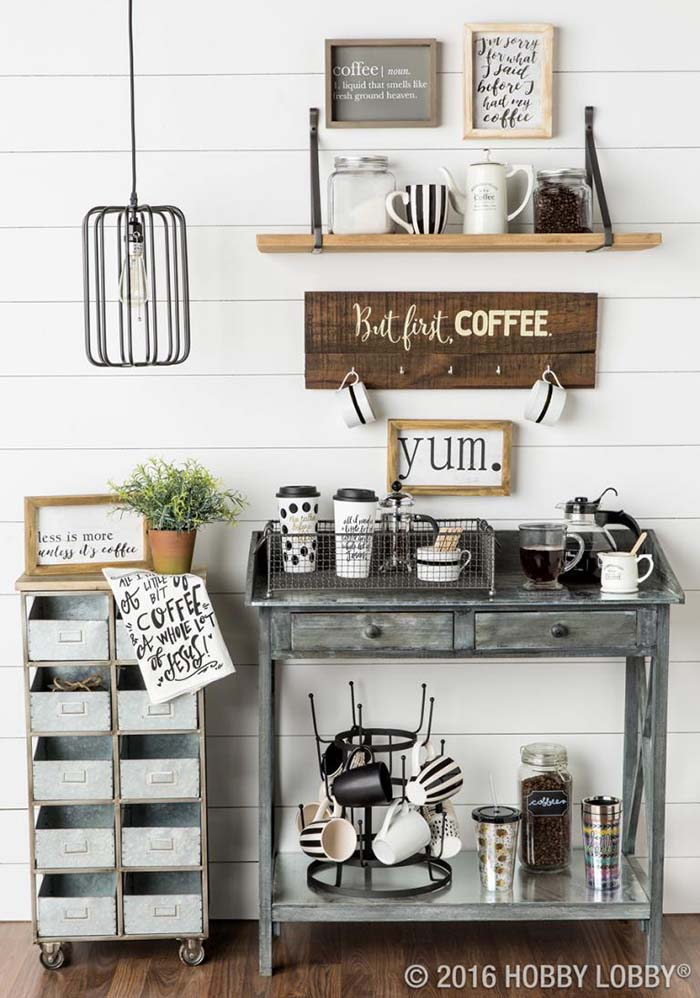 Amazing DIY Coffee Station Ideas #coffeebar #coffeestation #decorhomeideas