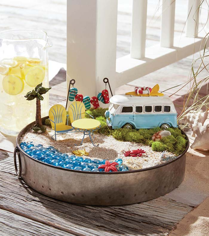 Beach Fairy Garden #fairygarden #diy #decorhomeideas