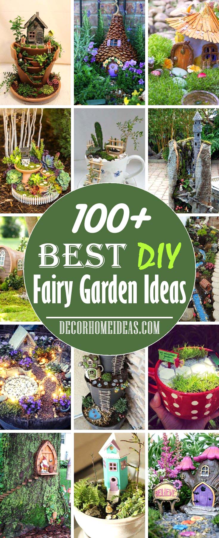 Best DIY Fairy Garden Ideas and Designs #fairygarden #diy #decorhomeideas