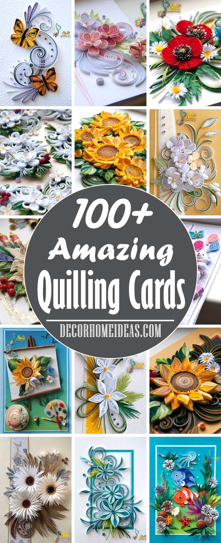 Best Paper Quilling Cards, Ideas and Designs #quilling #cards #decorhomeideas