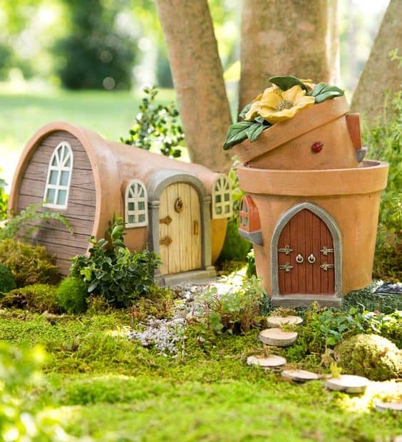 Clay Pot Fairy House #fairygarden #diy #decorhomeideas