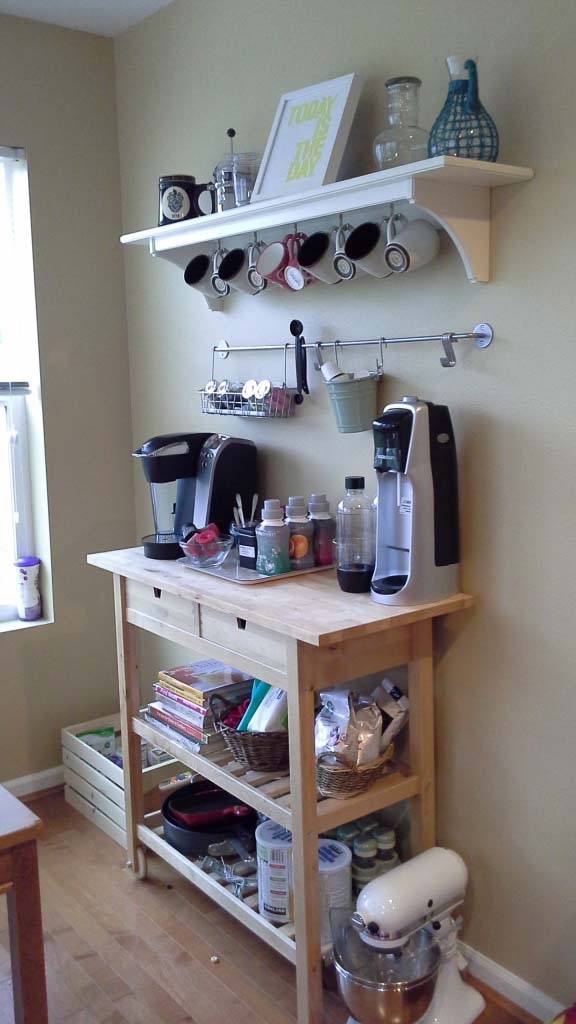 Coffee Bar Organization #coffeebar #coffeestation #decorhomeideas