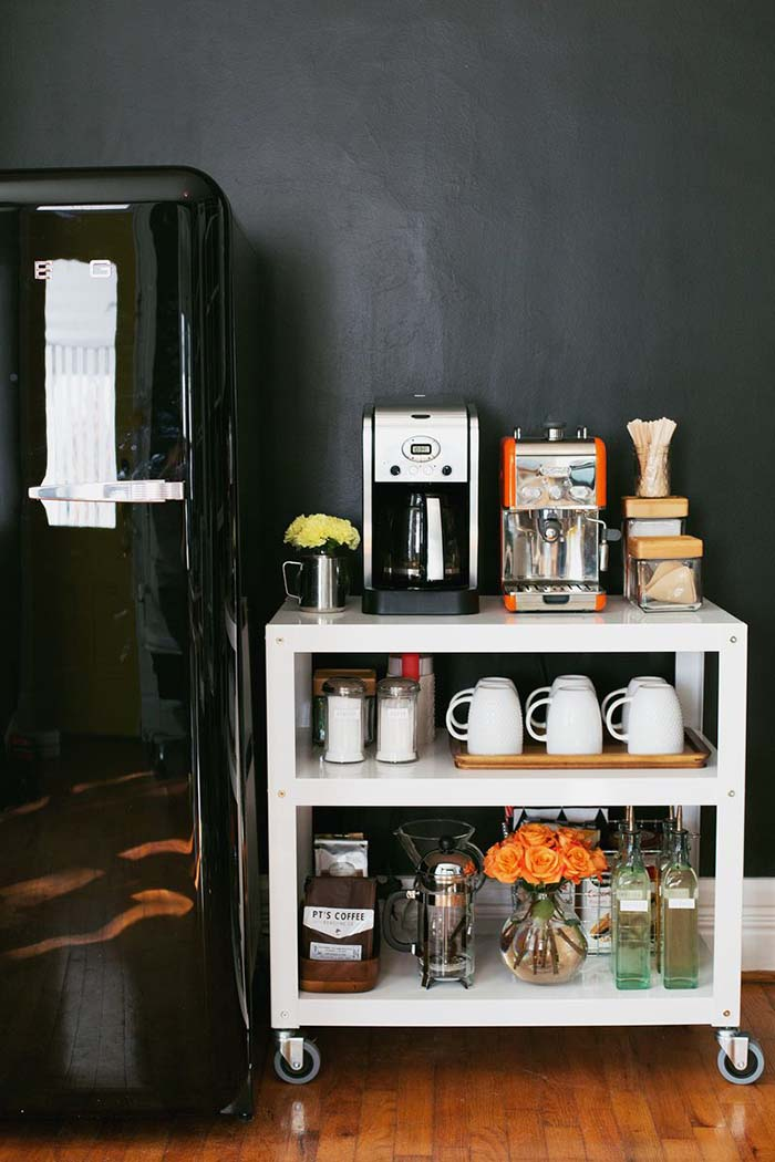 Coffee Cart Station #coffeebar #coffeestation #decorhomeideas
