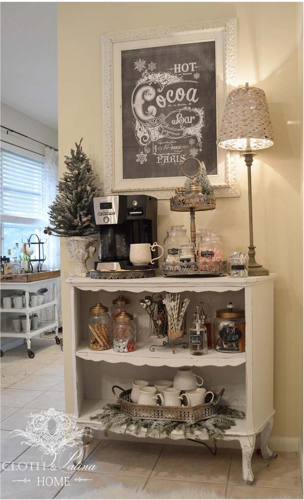 Coffee Station with a French Flair #coffeebar #coffeestation #decorhomeideas