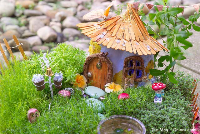 Cute Hut Fairy Garden #fairygarden #diy #decorhomeideas