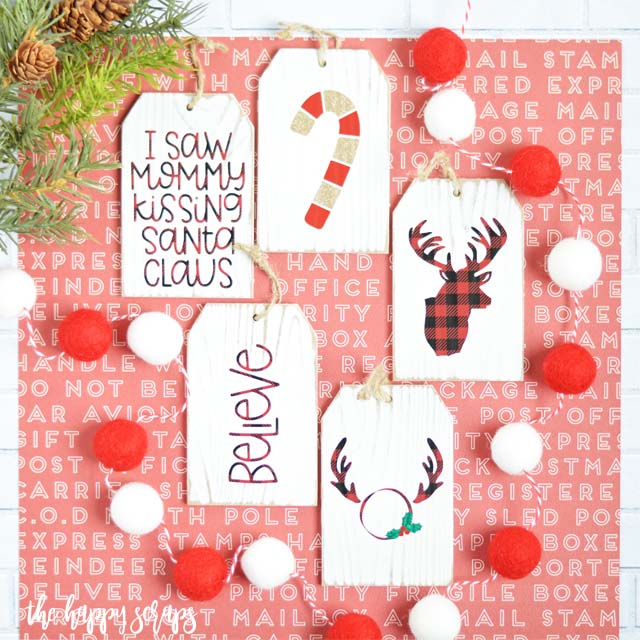 DIY Buffalo Check Christmas Oraments #Christmas #buffalocheck #diy #decorhomeideas