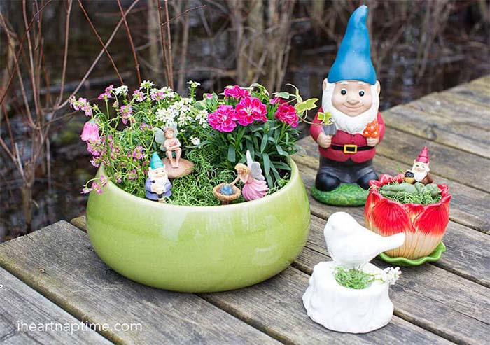 DIY planter fairy garden #fairygarden #diy #decorhomeideas