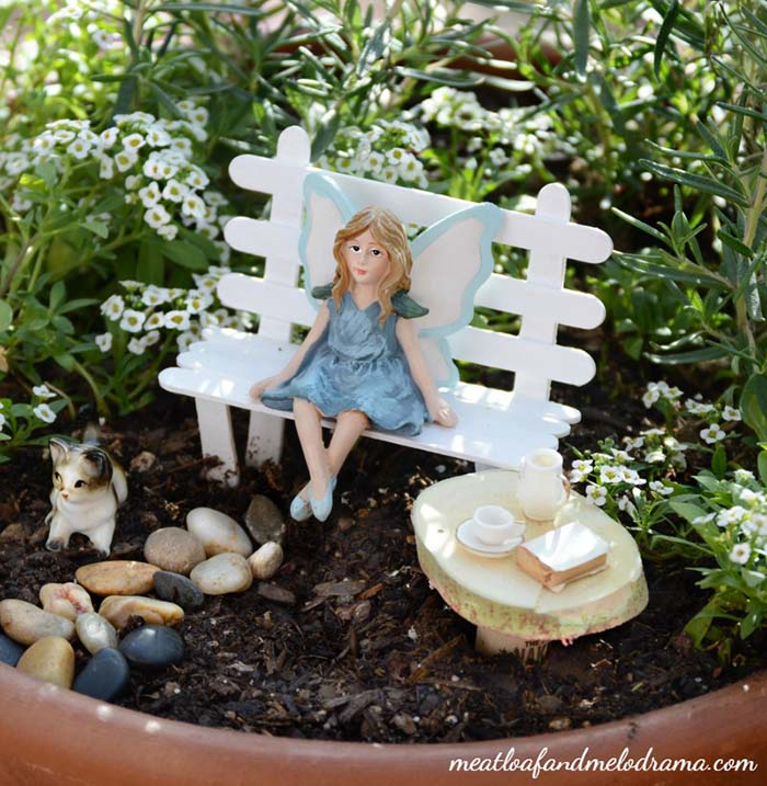 Easy DIY Fairy Garden #fairygarden #diy #decorhomeideas