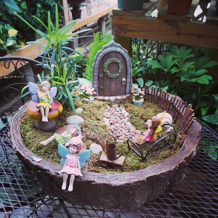 Enchanted Door Fairy Garden #fairygarden #diy #decorhomeideas