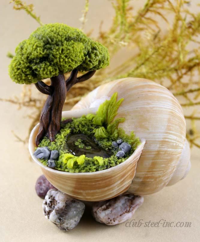 Fairy Garden In a Sea Shell #fairygarden #diy #decorhomeideas