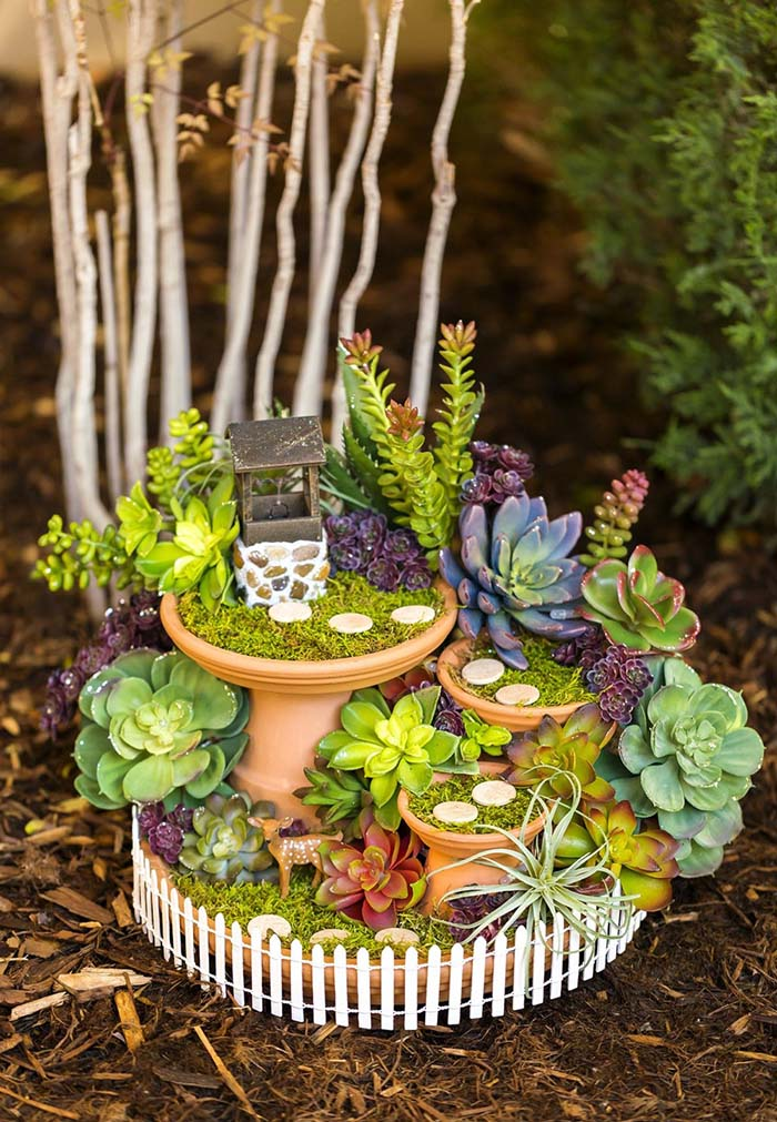 Fairy Garden Wishing Well #fairygarden #diy #decorhomeideas