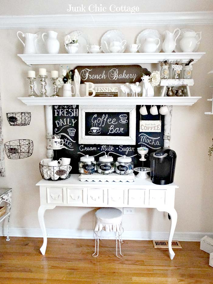 French Country Coffee Bar #coffeebar #coffeestation #decorhomeideas
