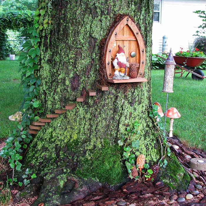 Gnome Home Fairy Garden #fairygarden #diy #decorhomeideas