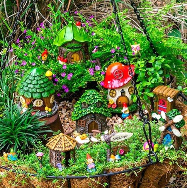 Hanging Planter Fairy Garden #fairygarden #diy #decorhomeideas