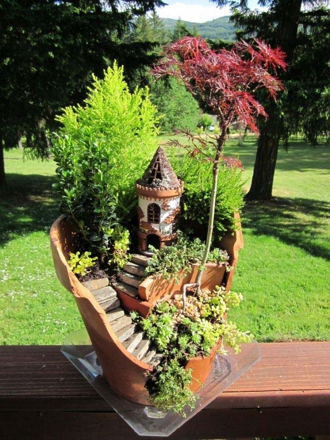 Hidden Castle Fairy Garden #fairygarden #diy #decorhomeideas