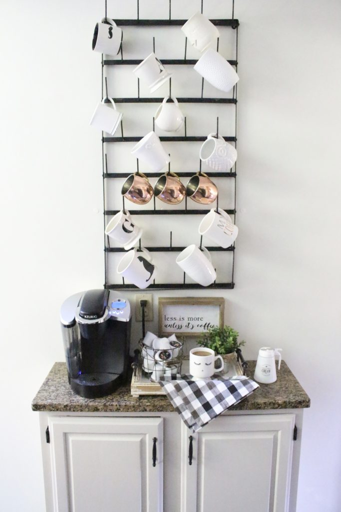 How To Setup Kitchen Coffee Station #coffeebar #coffeestation #decorhomeideas