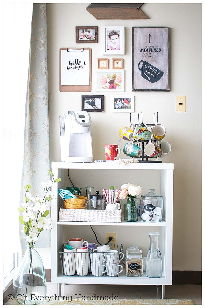 IKEA Coffee Bar #coffeebar #coffeestation #decorhomeideas