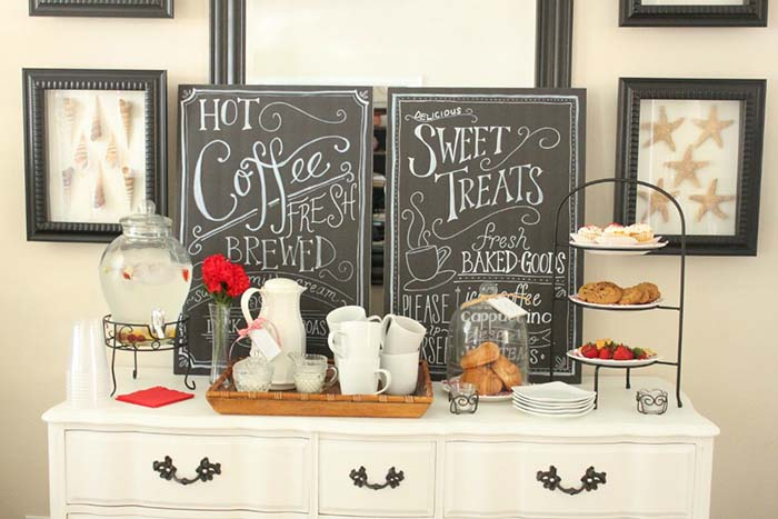 Inviting Coffee Station #coffeebar #coffeestation #decorhomeideas