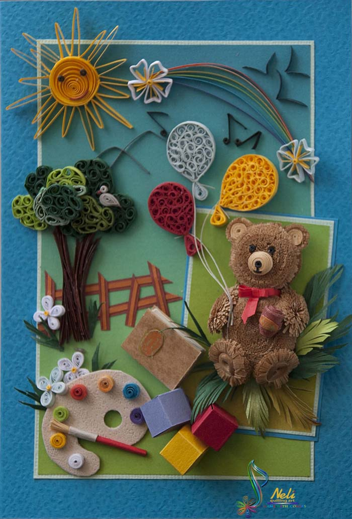 Kids Quilling Cards