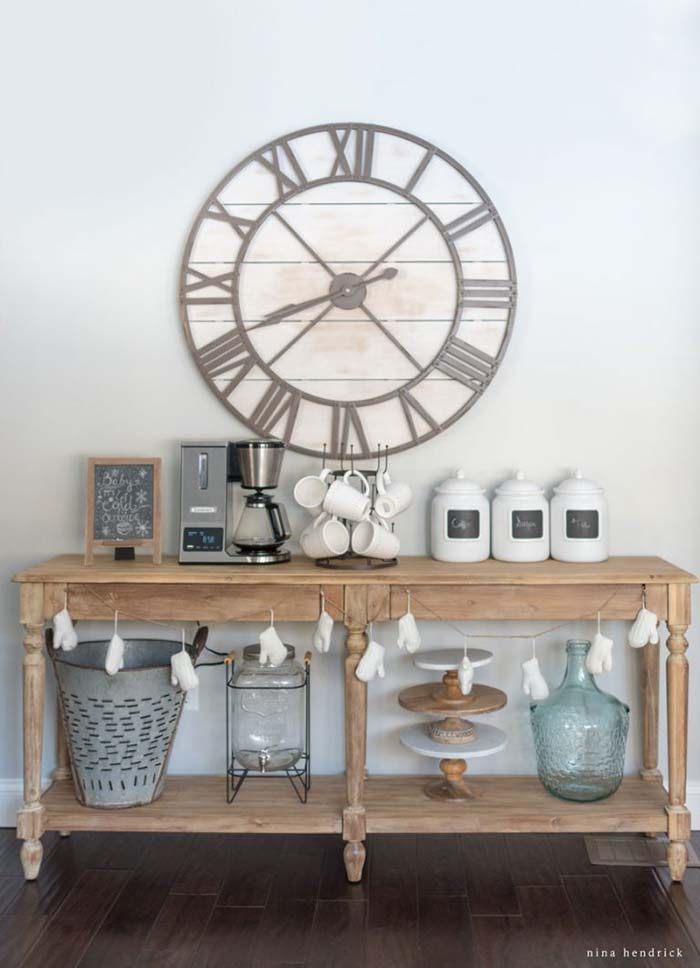 Kitchen Coffee Bar #coffeebar #coffeestation #decorhomeideas