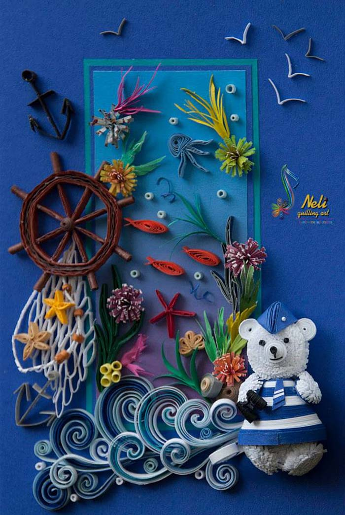 Marine Themed Quilling Cards