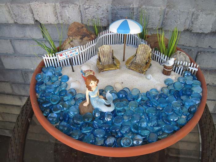Mermaid Miniature Garden #fairygarden #diy #decorhomeideas
