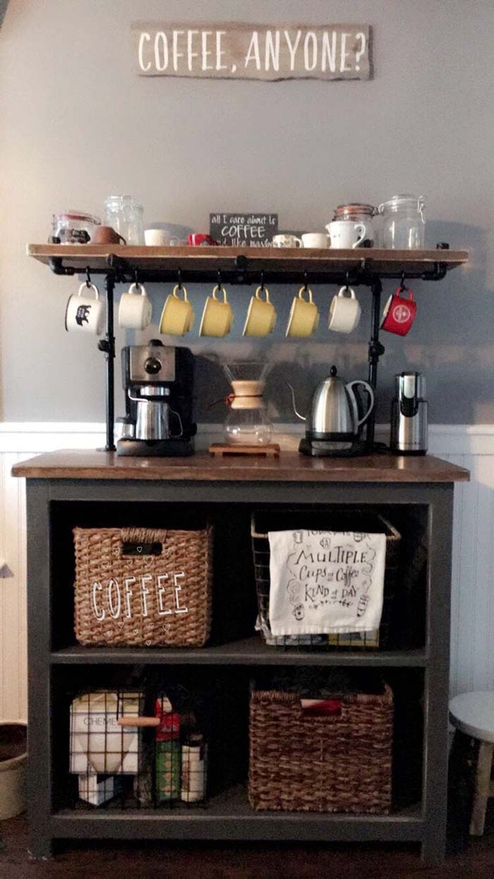 Mini Coffee Bar #coffeebar #coffeestation #decorhomeideas