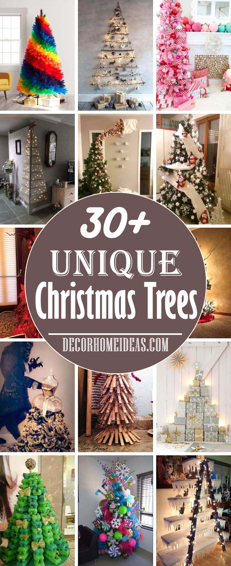 Most Unique Christmas Trees, Unusual and extraordinary Christmas trees #Christmas #trees #decorhomeideas