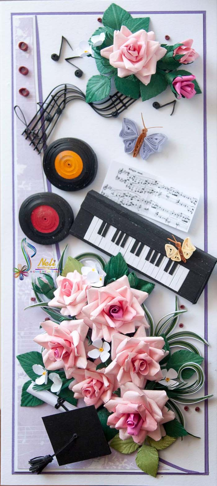 Music Themed Quilling Cards