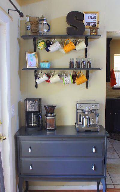 Neat Coffee Bar #coffeebar #coffeestation #decorhomeideas