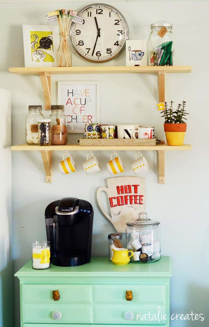 Old Dresser To Coffee Bar #coffeebar #coffeestation #decorhomeideas