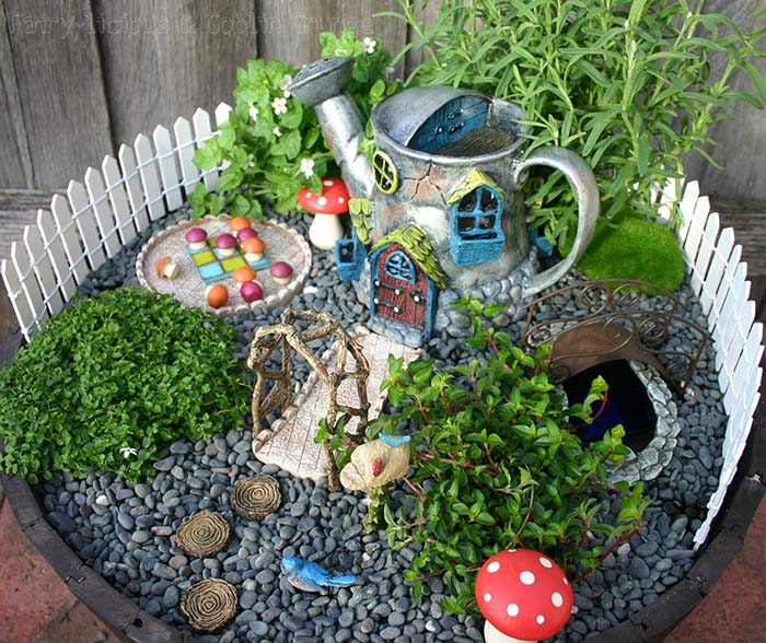 Pebbles Fairy Garden #fairygarden #diy #decorhomeideas