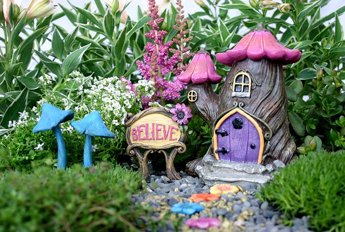 Purple Fairy House #fairygarden #diy #decorhomeideas