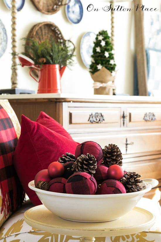 Red Buffalo Plaid Christmas Ornament #Christmas #buffalocheck #diy #decorhomeideas