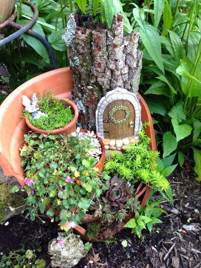 Secret Door Fairy Garden #fairygarden #diy #decorhomeideas