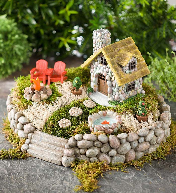 Stone Fairy House #fairygarden #diy #decorhomeideas