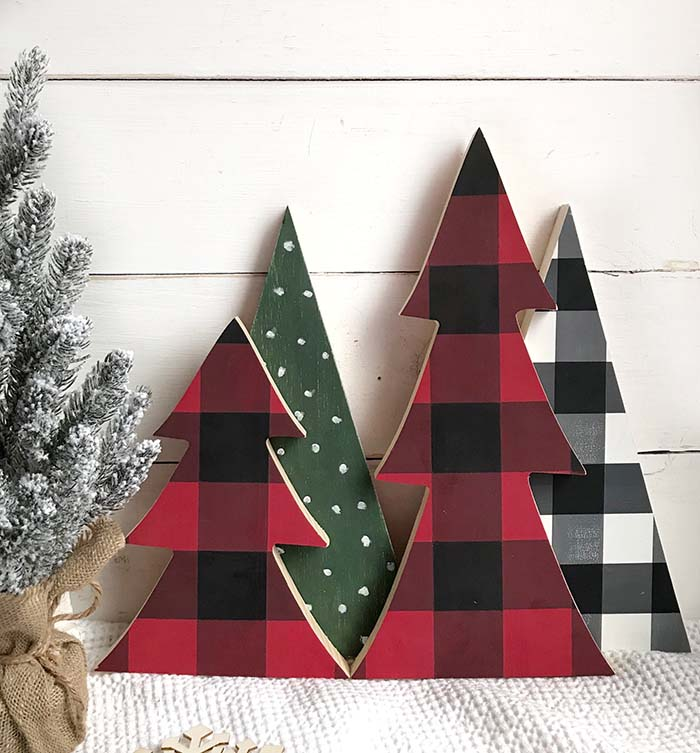 Unique Buffalo Check Christmas Tree #Christmas #buffalocheck #diy #decorhomeideas