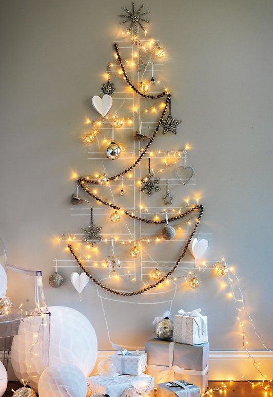 Wall Decor Christmas Tree #Christmas #trees #decorhomeideas