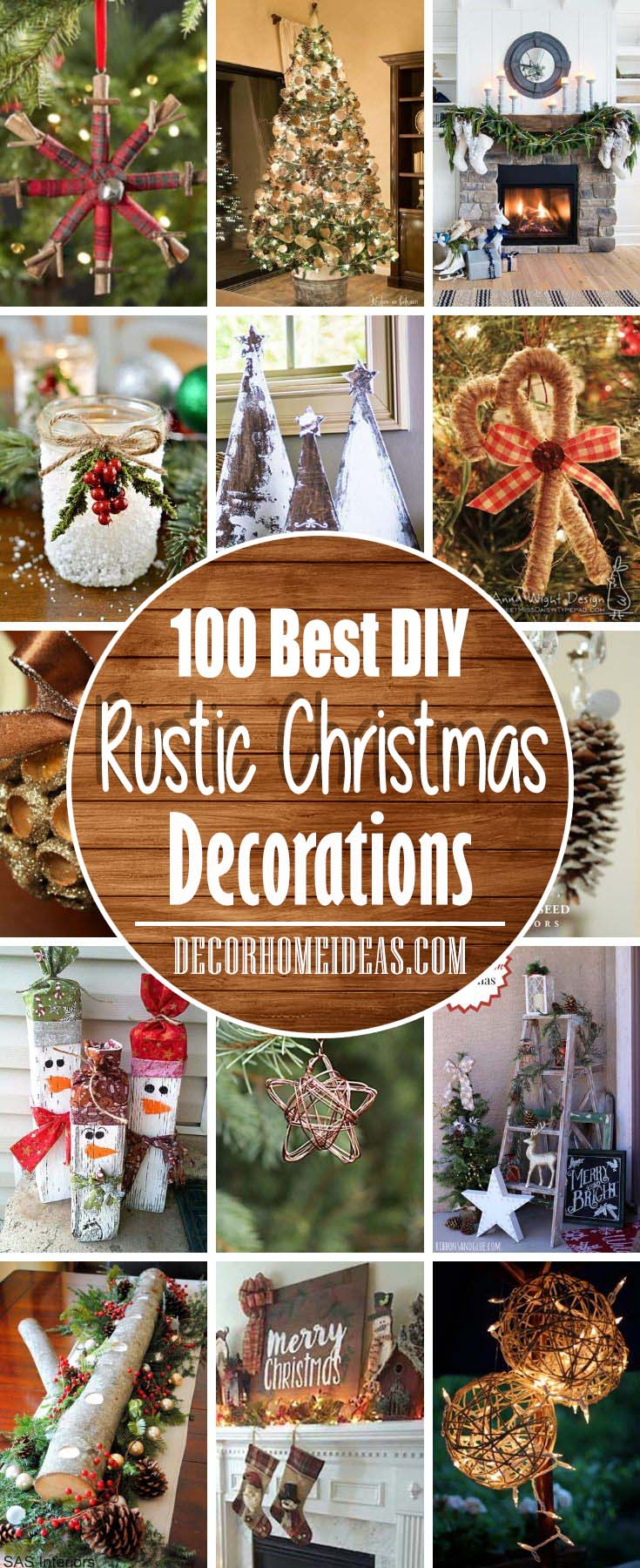 Best DIY Rustic Christmas Decorations and Decor Ideas #Christmas #rustic #diy #decorhomeideas
