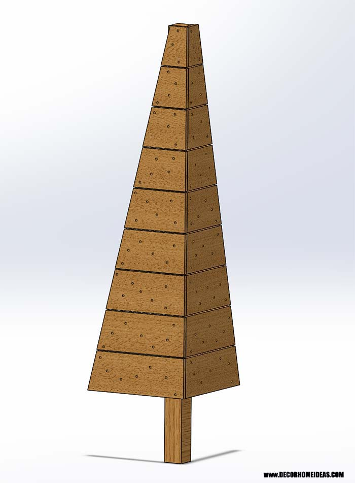 Wooden Corner Christmas Tree Blueprint