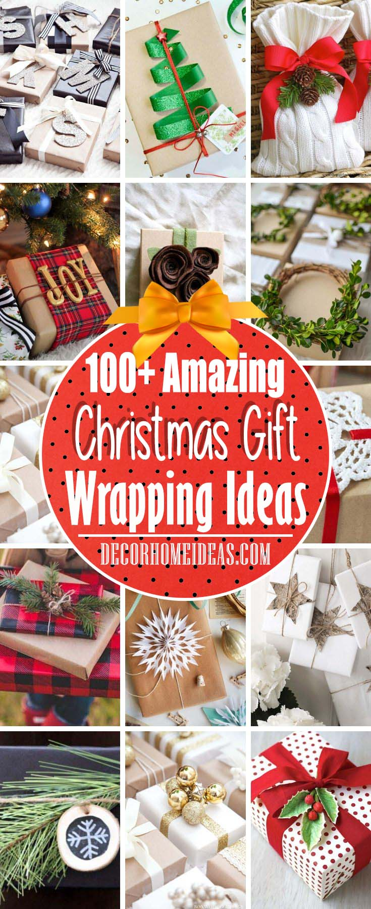 Best Christmas Gift Wrapping Ideas #Christmas #gift #wrapping #decorhomeideas