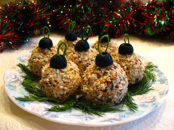 Cheese Ball Christmas Ornaments