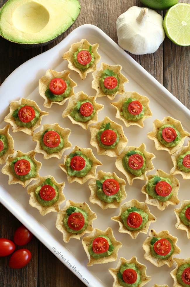 Chips and Guacamole Bites Gluten Free Appetizer