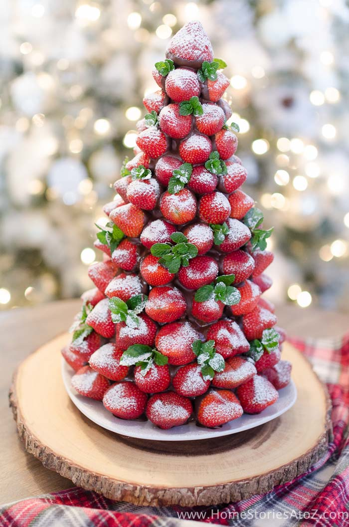 Christmas Desserts Chocolate Covered Strawberry Christmas Tree