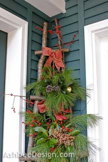 Christmas Ladder DIY #Christmas #natural #decoration #decorhomeideas