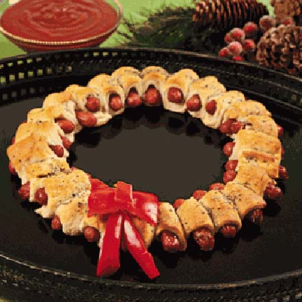 Christmas Mini Sausage Wreath