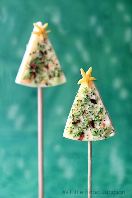 Christmas Tree Cheese Pops